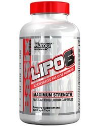 Nutrex LIPO6 Maximum Strength Weight Loss Pills, Liqui-Caps, 120 Count