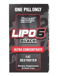 Nutrex Research Lipo-6 Black Ultra Concentrate Supplement, 60 Count