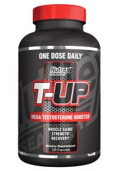 Nutrex Research T-Up | Testosterone & Libido Booster, D-Aspartic Acid, Zinc, B6, B12 | 120 Capsules