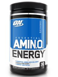 Optimum Nutrition Amino Energy Blue Raspberry Pre-workout and Essential Amino Acids with Green Tea and Green Coffee Extract (30 Servings)