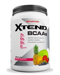 Scivation Xtend BCAA Powder, Branched Chain Amino Acids, BCAAs, Fruit Punch, 90 Servings