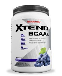 Scivation Xtend BCAA Powder, Branched Chain Amino Acids, BCAAs, Grape Escape, 90 Servings