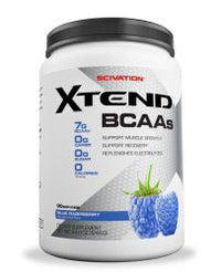 Scivation Xtend BCAA Powder, Branched Chain Amino Acids, BCAAs, Raspberry Blue, 90 Servings