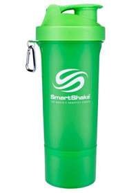 SmartShake SLIM Bottle, 17 oz Shaker Cup, Neon Green
