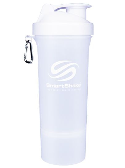 SmartShake SLIM Bottle, 17 oz Shaker Cup, Pure White