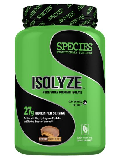 Species Nutrition Isolyze Peanut Butter Supplement, Chocolate, 1.55 Pound