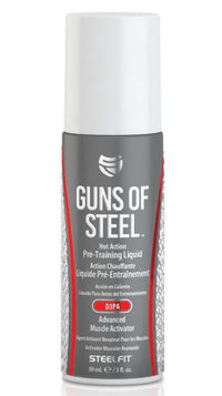 SteelFit - Guns of Steel Hot Action Pre-Training Liquid with D3PA Advanced Muscle Activator - Mind Blowing Pump - Made in USA