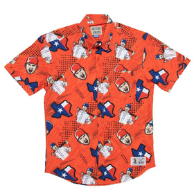 RSVLTS MLBPA Button Down Carlos Correa Youth – KUNUFLEX Short Sleeve Shirt