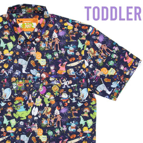 "RSVLTS Nickelodeon Short Sleeve Shirt Nickelodeon ""Spooky Mashup"" Toddler – KUNUFLEX Short Sleeve Shirt"