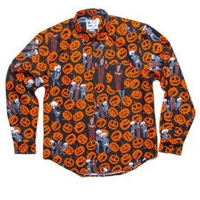 "RSVLTS XS / Black SNL Oxford Long Sleeve David S. Pumpkins ""Any Questions?"" – Long Sleeve Button Up Oxford Shirt David S. Pumpkins ""Any Questions?"" Long Sleeve Button Up Oxford Shirt"
