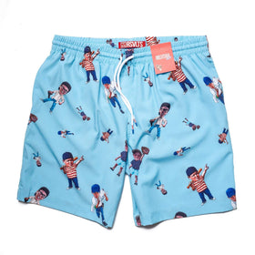RSVLTS Small / Blue The Sandlot Swim The Sandlot Bobble Swim Trunks