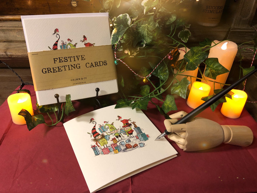 Festive Greeting Cards (5 pack)