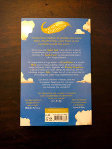 Image shows the back cover of paperback book Rumblestar written by Abi Elphinstone.
