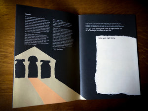 Image of a page from Night & Day showcasing a story about Night with space to write your own.