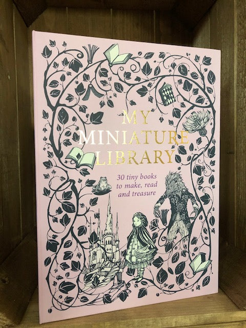 Image of the front of the box for My Miniature Library by Daniela Jaglenka Terrazzini.