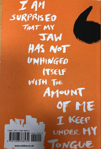 Image of the back of the paperback book Somebody Give This Heart A Pen by Sophia Thakur