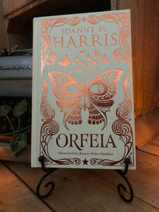 Image of the front cover of the hardback book Orfeia written by Joanne Harris.