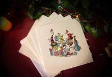 Load image into Gallery viewer, Festive Greeting Cards (5 pack)