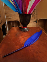 Load image into Gallery viewer, Image of one Biro Quill shown in blue laid on a desk