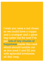 Load image into Gallery viewer, Tiny Chunks of Happiness Card