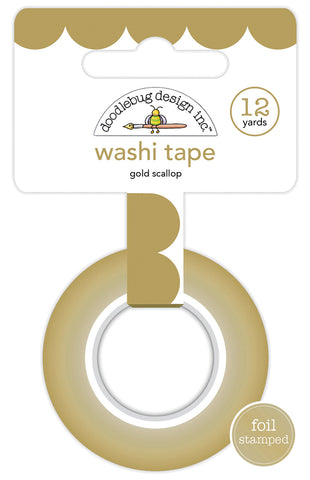 Doodlebug Lots O' Luck Gold Scallop Washi Tape