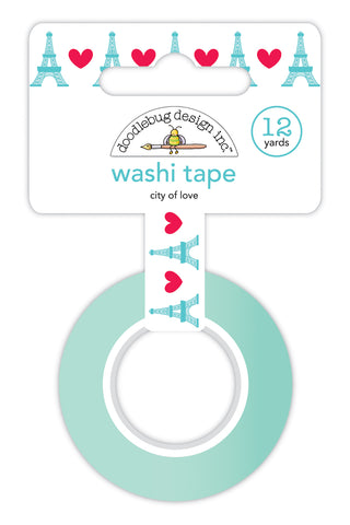 Doodlebug French Kiss City Of Love Washi Tape
