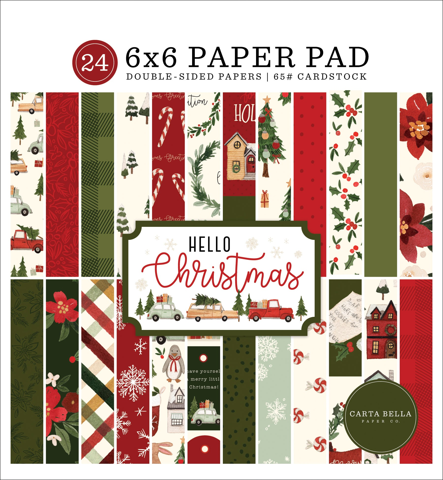 Carta Bella Hello Christmas 6x6 Paper Pad