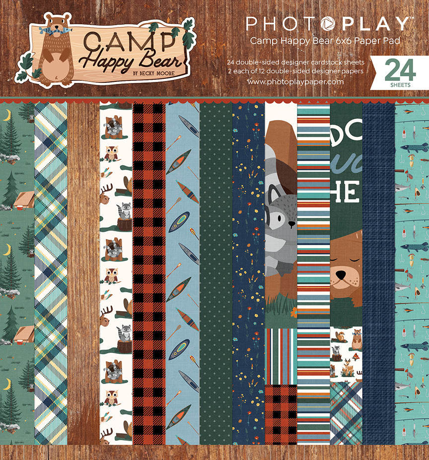 PhotoPlay Camp Happy Bear 6x6 Paper Pad