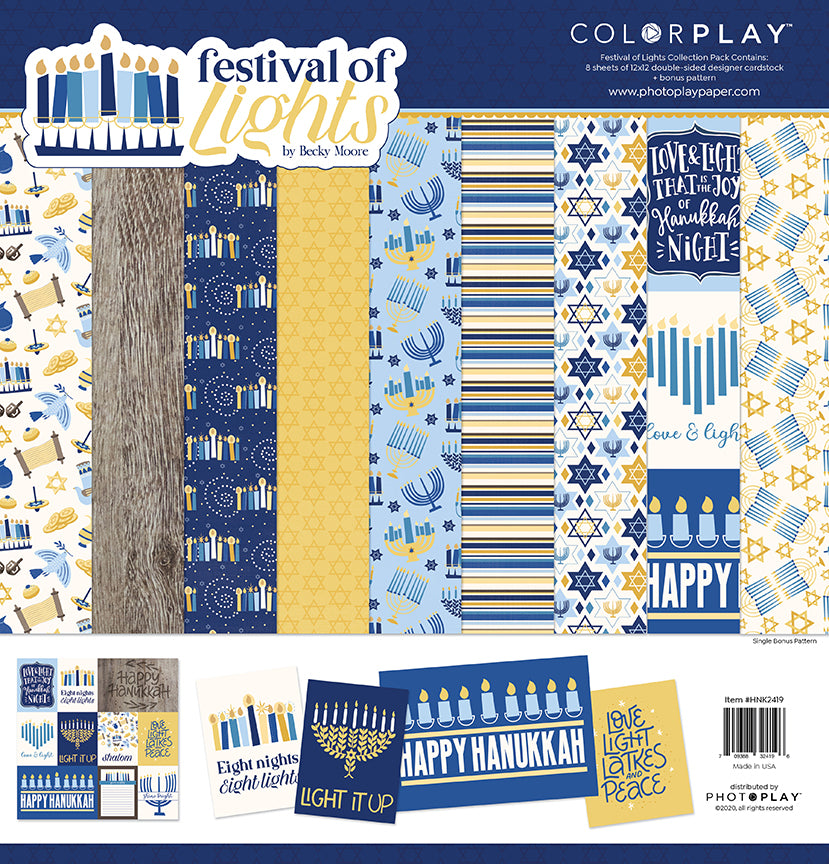 PhotoPlay Living Festival Of Lights 12x12 Paper Pack