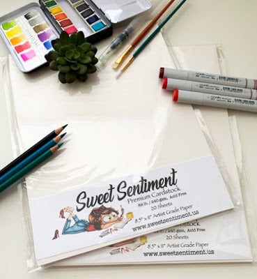 Sweet Sentiment Coloring Cardstock-8.5x11