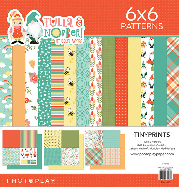 PhotoPlay Tulla & Norbert 12x12 Tiny Prints Paper Pack