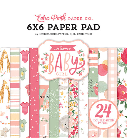 Echo Park Welcome Baby Girl Mega 6x6 Paper Pad