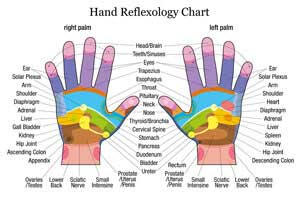 find out points rubbed on hands