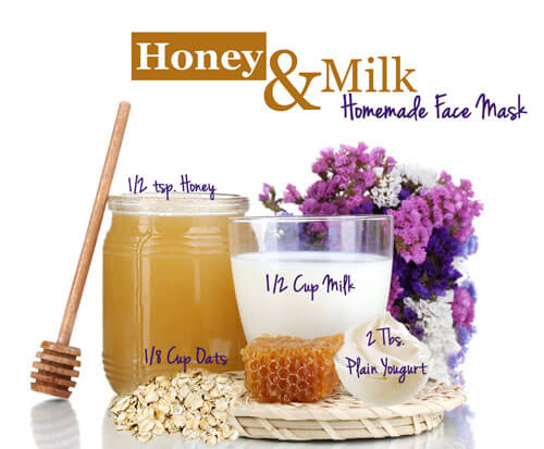 Honey oatmeal facial mask