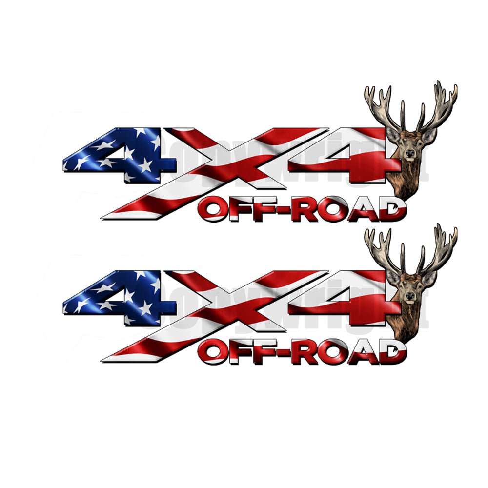 4X4 Offroad Decals Buck