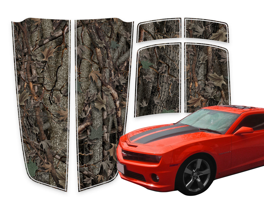 Camaro Racing Stripes Oak Ambush Die-Cut 2010-2015