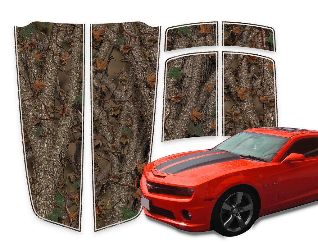 Camaro Racing Stripes Forest Die-Cut 2010-2015