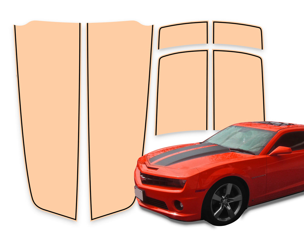 Camaro Racing Stripes Salmon - Black Pinstripe 2010-2015