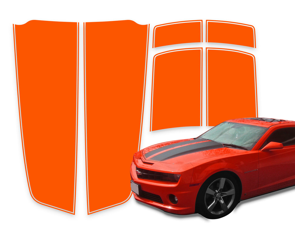 Camaro Racing Stripes Orange Die-Cut 2010-2015