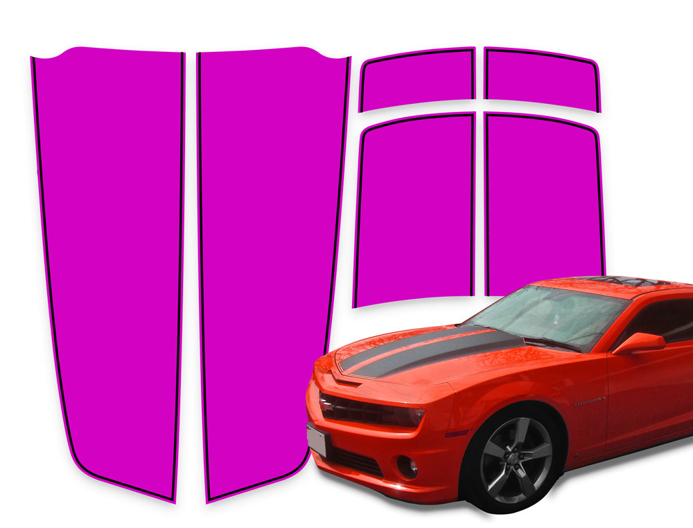 Camaro Racing Stripes Pink - Black Pinstripe 2010-2015