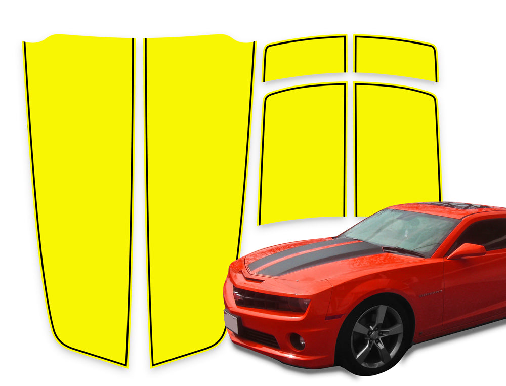 Camaro Racing Stripes Yellow - Black Pinstripe 2010-2015