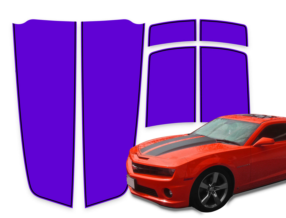 Camaro Racing Stripes Purple - Black Pinstripe 2010-2015