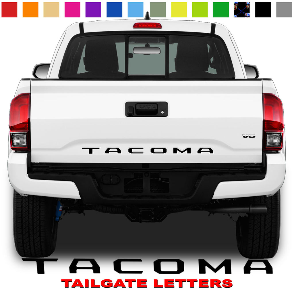 Toyota Tacoma Tailgate Lettering