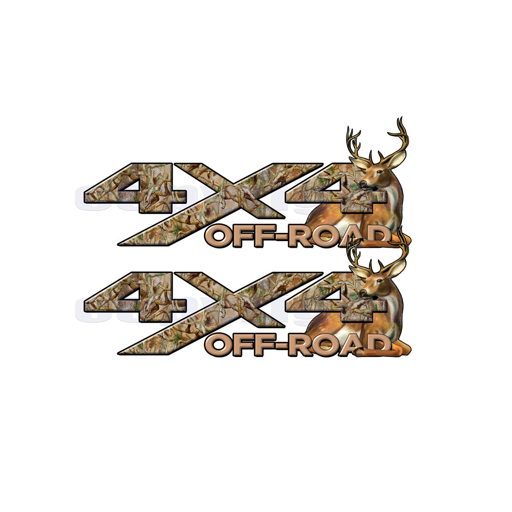 4X4 Offroad Decals Obliteration Camo Buck Big Buck