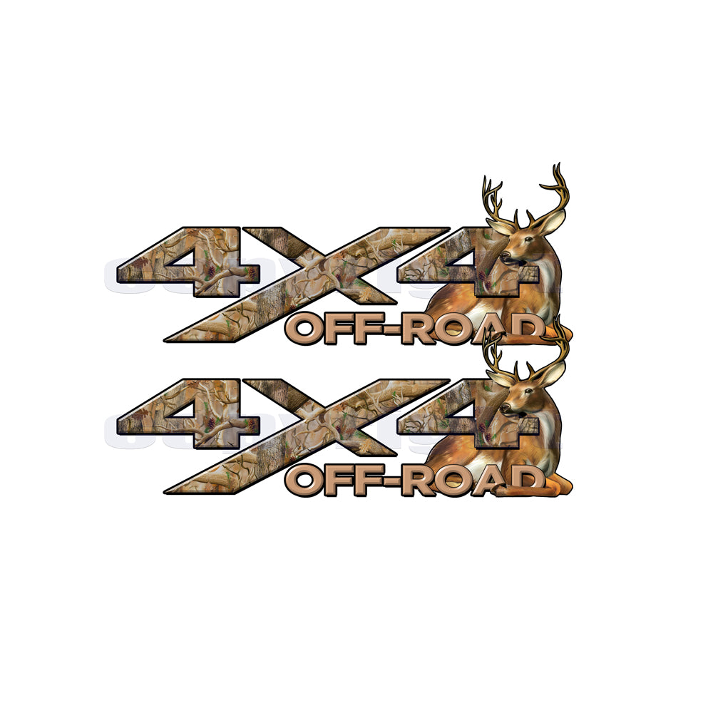 4X4 Offroad Decals Obliteration Camo Big Buck