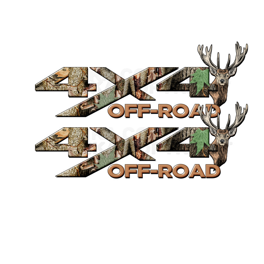 4X4 Offroad Decals Real AP Tree Camo Buck
