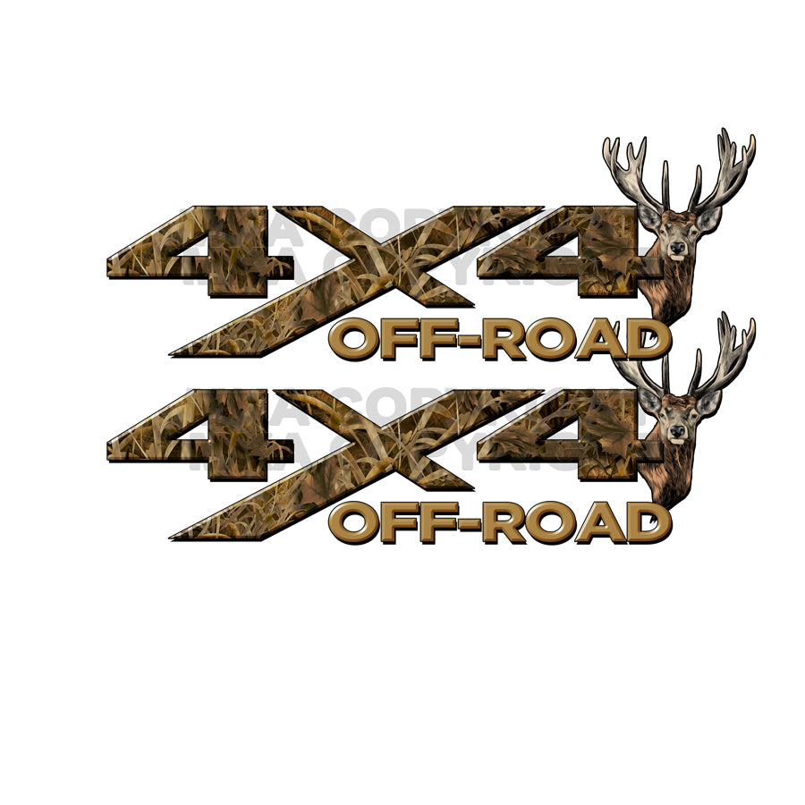 4X4 Offroad Decals MAX CAMO Buck