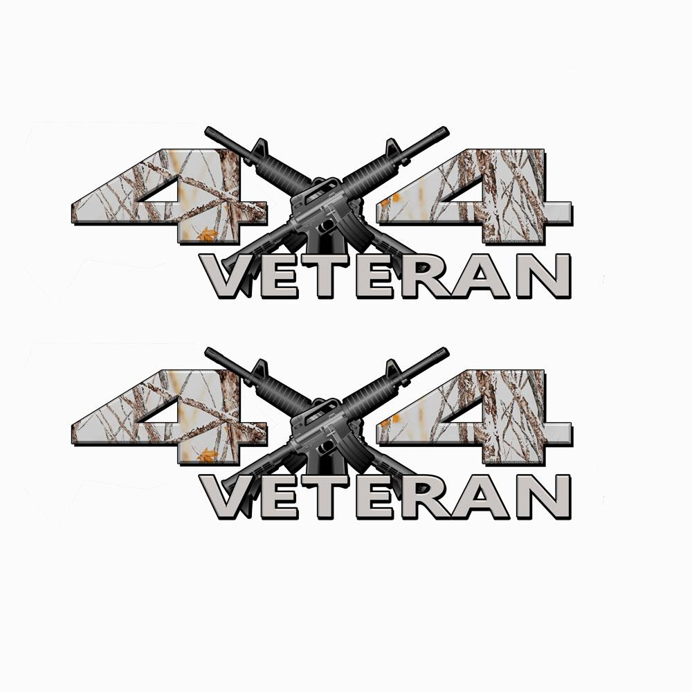 Veteran 4X4 Snow Storm Camo Decals
