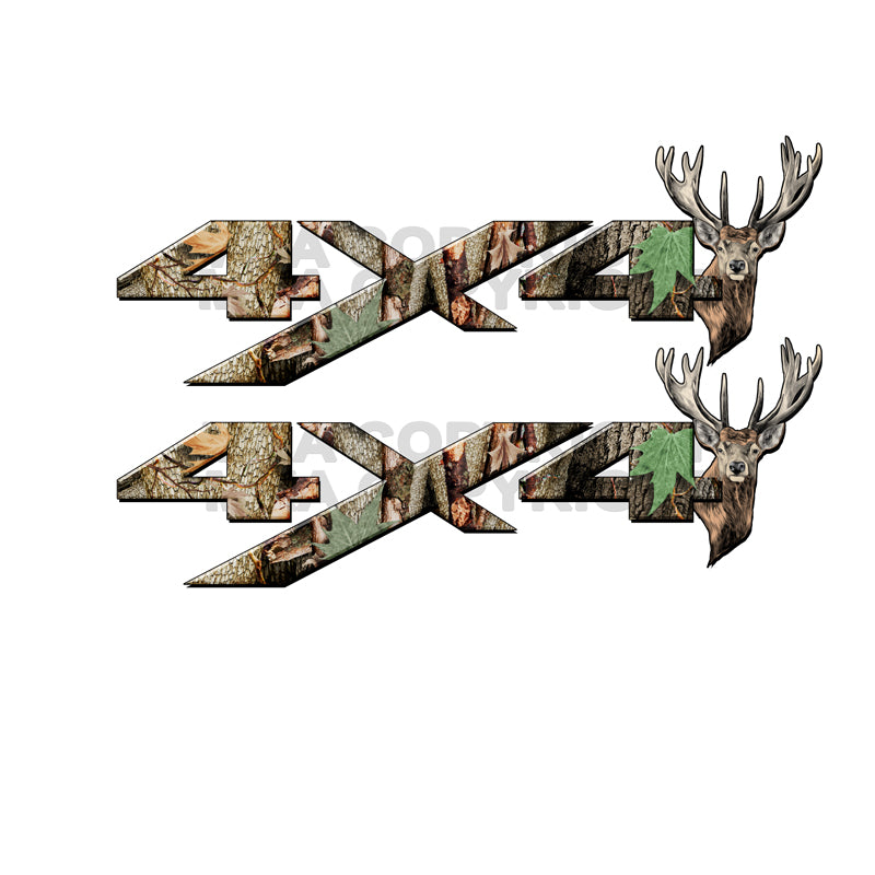 4X4 Decal Real AP Tree Deer