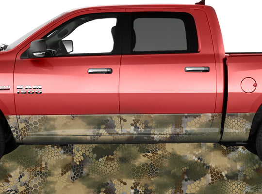 Chameleon Camo Tan Rocker Panel Wrap Graphic Decal Wrap Truck Kit